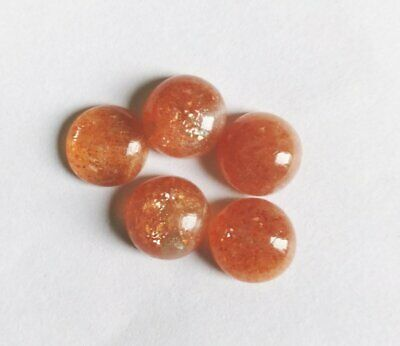 Wholesale Lot !! 10mm Round Cabochon Natural sunstone Loose Gemstone Calibrated