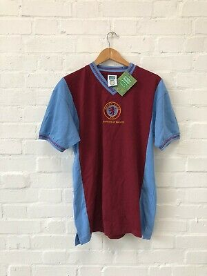 Score Draw Aston Villa FC Men's 1982 European Cup Shirt - Large - Claret - New
