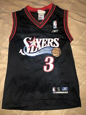 huge discount 8259c 88bc0 ALLEN IVERSON #3 Philadelphia 76ers SIXERS jersey YOUTH ...