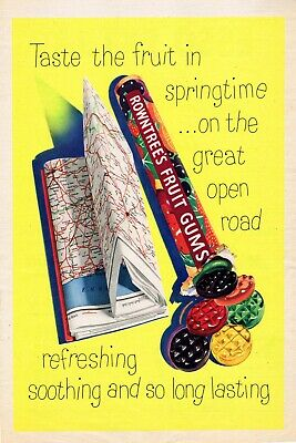 Rowntree/'s fruit gum vintage style metal wall plaque sign