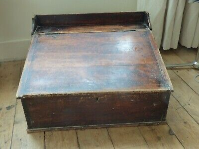 Vintage Wooden Writing Slope For Restoration, Probably from a Factory Originally