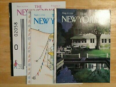 The New Yorker magazine back issues (1977-1988)