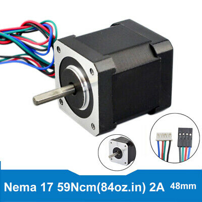 59Ncm Nema 17 Stepper Motor 2A 59Ncm/84oz.in 48mm 4wire for DIY 3D Printer Robot