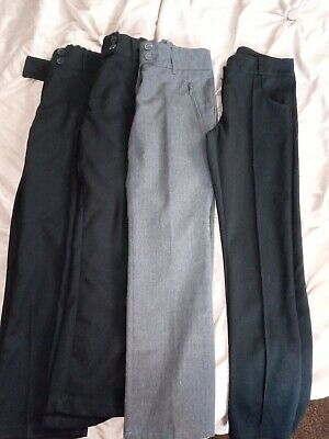 4 Pairs Of Girls School Trousers Age 9