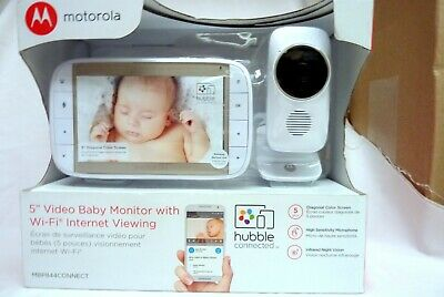 """New Motorola 5"""" Video Baby Monitor With Wi-Fi Internet Viewing Inv# 19488-4"""