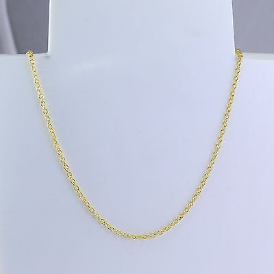 2mm High quality Unisex Real 18K Gold Filled Thin  Necklace Chain 20 inches