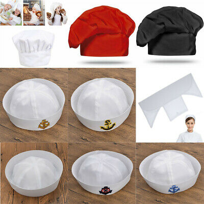 1pc Sailor Chef Nurse Cap Hat Performing Costume Party Cosplay Anchor Embroidery