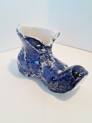 "VINTAGE JAMES KENT-STAFFORDSHIRE ENGLAND ""OLD FOLEY"" PORCELAIN SHOE/BOOT 1950's"