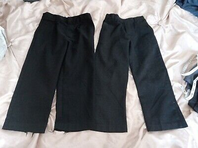 Two Pairs Of Boys School Trouser Age 4 & 4-5