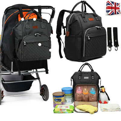 Women Man's Travel Diaper Nappy Backpack Set Multi-Function Tote Baby Mummy Bag