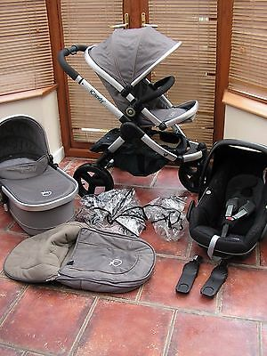 ICANDY PEACH jogger all terrain travel system GLACIER  GREY free uk post