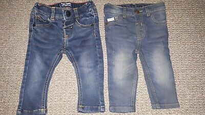 3-6 Months Baby Boys Blue Jeans Denim NEXT RIVER ISLAND BUNDLE x2 trouser