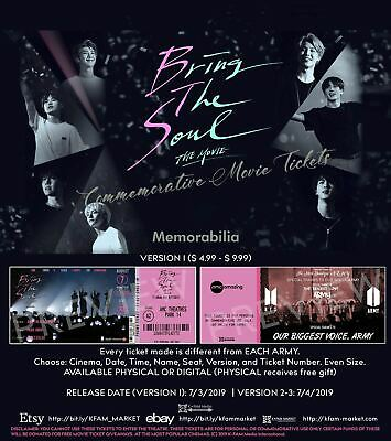 BTS Commemorative Movie Ticket - Bring The Soul the Movie