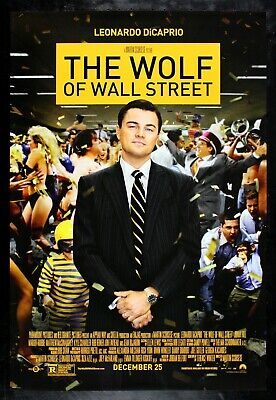 THE WOLF OF WALL STREET ✯ CineMasterpieces ORIGINAL DS NM-M MOVIE POSTER 2013