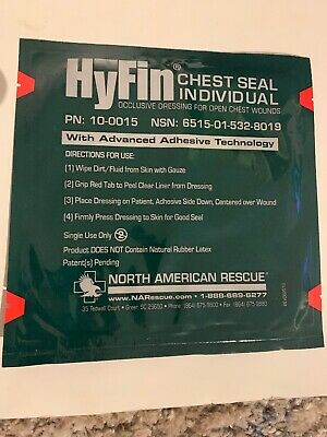 North American Rescue Hyfin Chest Seal Gauze REF 10-0015 1 Pack