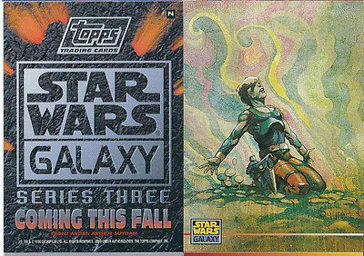 Star Wars - Galaxy Series 3 - Promo Chase Trading Card - # P4 - NM