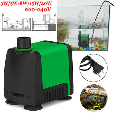 1pcs Submersible Pump Fish Tank Aquarium Pond Fountain Pump Under Water 220-240V