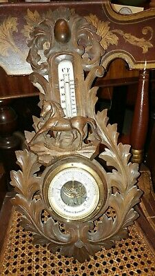 Antique German Hand Carved Barometer - Golosterir - Very well made