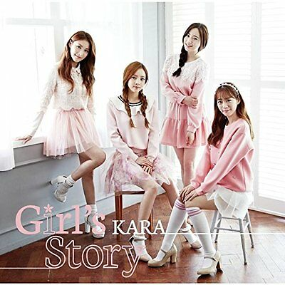 New KARA Girl's Story First Limited Edition Type B CD DVD Card Japan