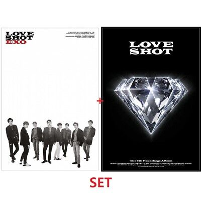 EXO [LOVE SHOT] 5th Repackage Album 2 SET (LOVE+SHOT) CD+Booklet+PhotoCard K-POP