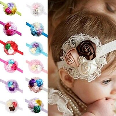 1PC Baby Girl Lace Flower Toddler Headband Hair Band Headwear Accessories  NR7