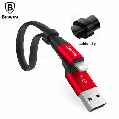 Baseus Portable Short Flat 23cm Lightning USB Charging Cable for iPhone XS Max 8