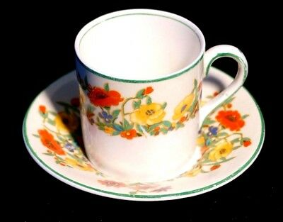 Beautiful Art Deco Grindley Ivory The Fairfield Demitasse And Saucer