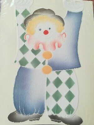 Coppia Tendine decorative porta finestra CLOWN PAGLIACCIO curtain novità pronte