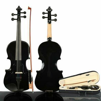 Acoustic Fiddle 1/8 Size Violin Set & Case Bow Rosin for Kids Students