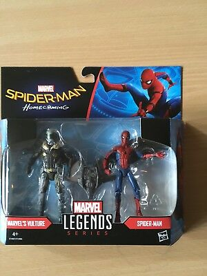 Action Figures Marvel Legends Homecoming Spiderman  Vulture twin pack  Hasbro