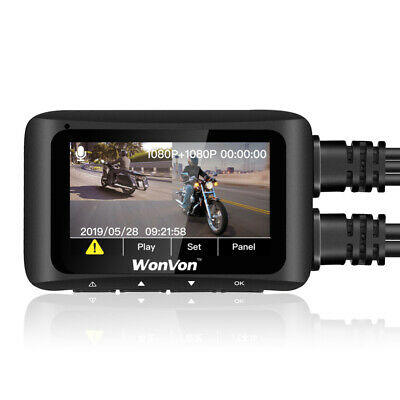 MT1 Dual Lens FHD 1080P WiFi GPS NTK 96663 Motorcycle Dash Cam DVR Night Vision