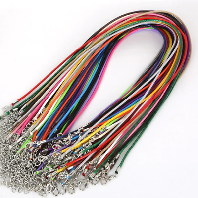 High Quality Leather Necklace Lobster Clasp Rope Cord String for Pendants