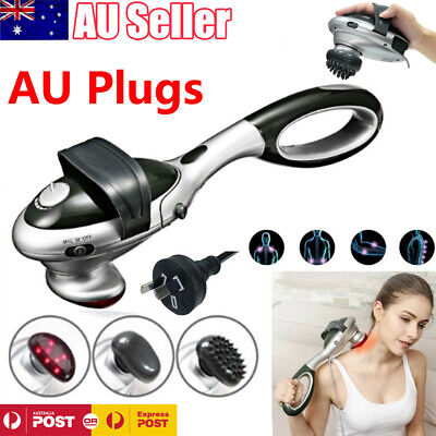 Electric Infrared Heat Massager Handheld Percussion Machine Wand Back Full Body