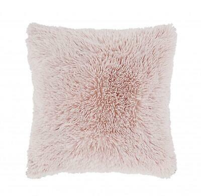 Catherine Lansfield Cuddly Shaggy Soft Throw/Blanket or Cushion Cover Blush Pink