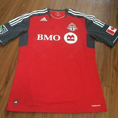 Toronto FC TFC Soccer MLS Home  jersey formation 2012-2013  #26 ECKERSLEY size-L