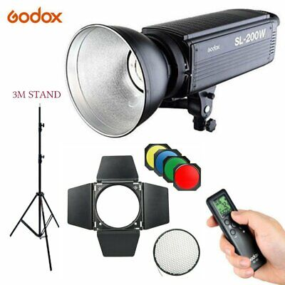 Godox SL-200W 200Ws 5600K Studio LED Continuous Video Light + BD04 with 3M Stand