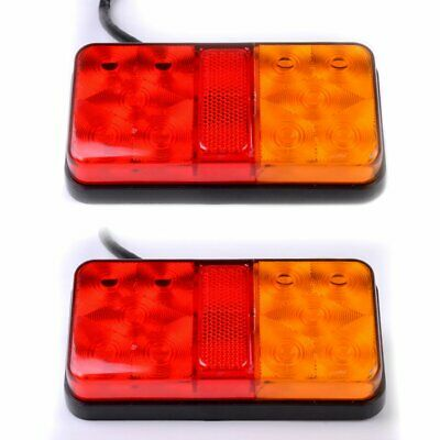 2x 12V LED Trailer Truck Bus Board Stop Back Tail Indicator Light Reverse Lamp