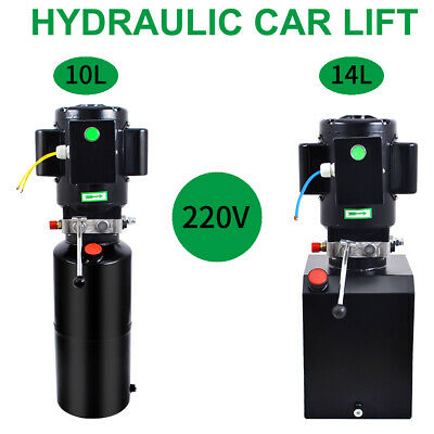 220V Manual Control Car Lift Hydraulic Power Lifting Unit Single Acting New