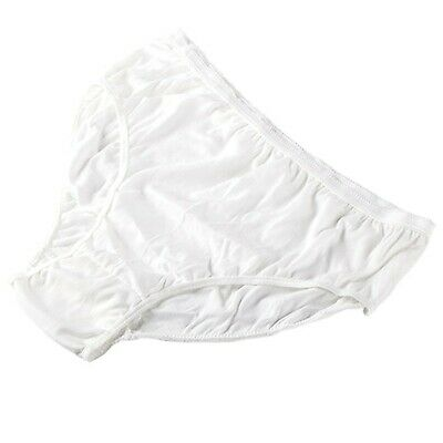 STARLY Women's Disposable 100% Pure Cotton Underwear Travel Panties High Cut ...