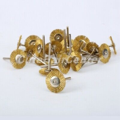 25mm Brass Wire Wheel Disc Brush for Grinder Drill Rust Remove Clean Polish 20Pc