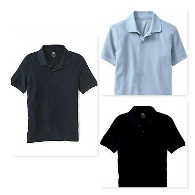 Old Navy Boy's School Uniform Polo Shirts Navy, Black, Sky Blue Size 10/12
