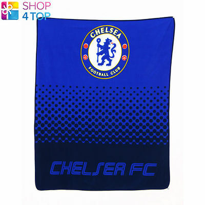 Chelsea Fc Fade Fleece Blanket Cover Quilt Blue Football Soccer Club Team New