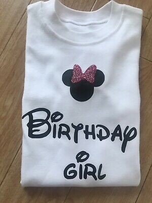 Disney Minnie Mouse Third Birthday T shirt 3rd Three Outfit Boys Girls Age Top