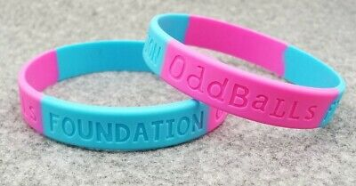 ODDBALLS CANCER Awareness Wristband Silicone Band Bracelet CHARITY BOXERS RUGBY