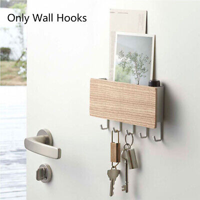 Wooden Wall Mounted Hanging Hanger Hooks Key Holder Storage Rack Organizer