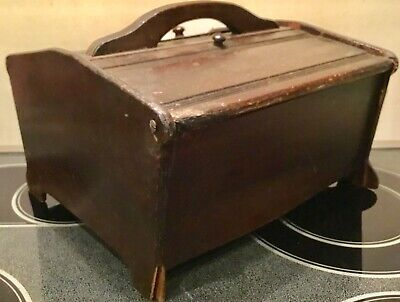 Antique Wooden Sewing Box with much History, Depression ERA - WW II ERA Offering