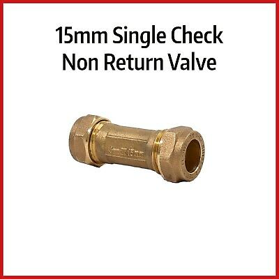 15mm Compression Non Return Valve | Single Check Valve | Spring Loaded