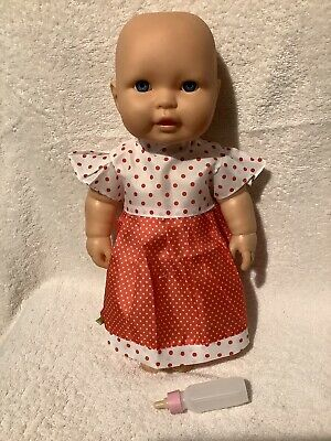 Baby Doll Drinking & Wetting 35cm Tall VGC New Dress