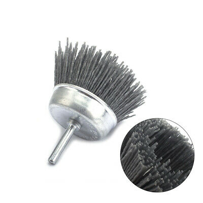 "3"" Cup Shaped Abrasive Nylon Wire Polishing Cleaning Brush Rotary Tool 1/4 Shank"