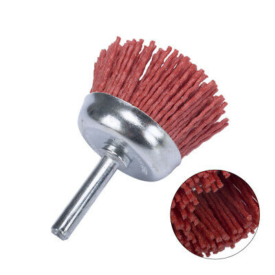 2 Inch 1/4 Shank Cup Abrasive Wire Polishing Brush For Deburring Cleaning 80#